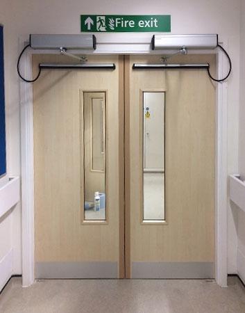FD30 powered fire doors
