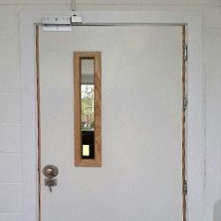 nhs hospital ward timber fire doors