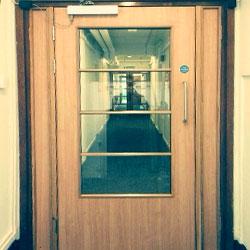 self-closing timber fire doors