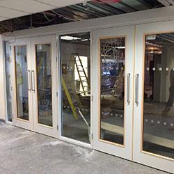 bi-fold timber fire doors